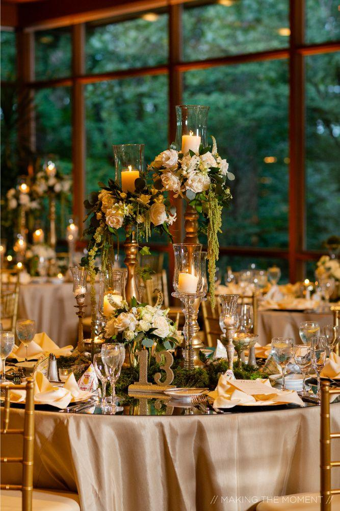 grace nicholas the hyatt lodge oak brook, IL floral centerpieces wedding reception