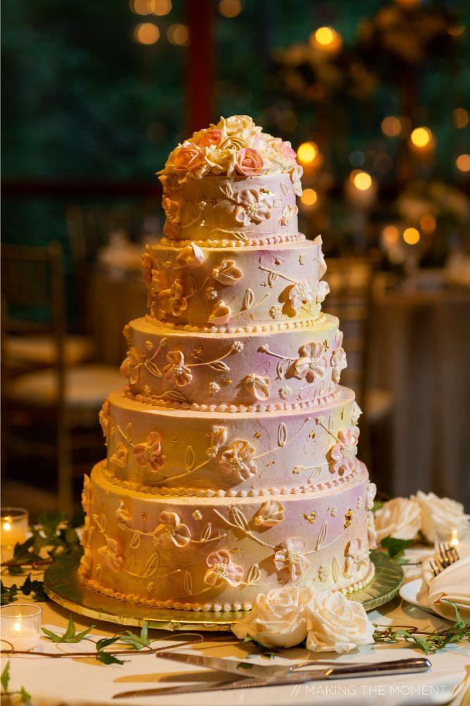 grace nicholas the hyatt lodge oak brook, IL wedding cake wedding reception
