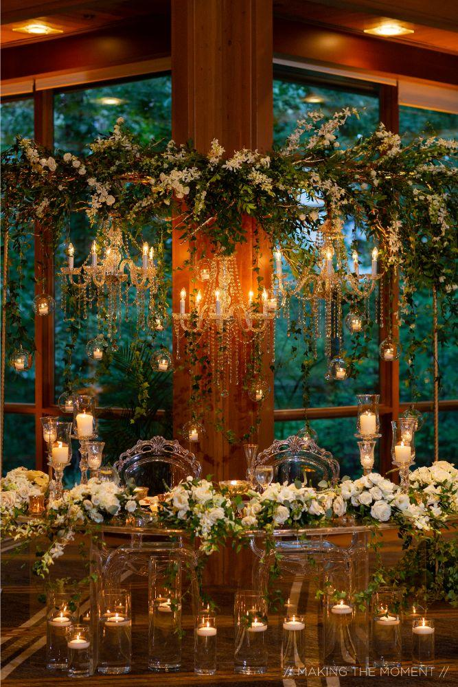 grace nicholas the hyatt lodge oak brook, IL wedding reception sweetheart table