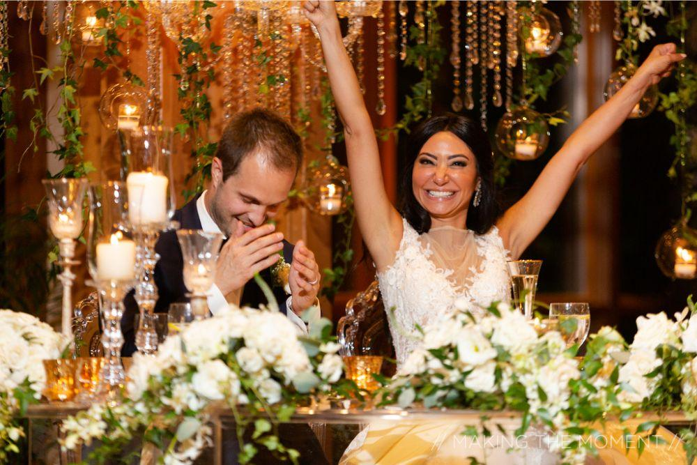 grace nicholas the hyatt lodge oak brook, IL bride and groom toasts