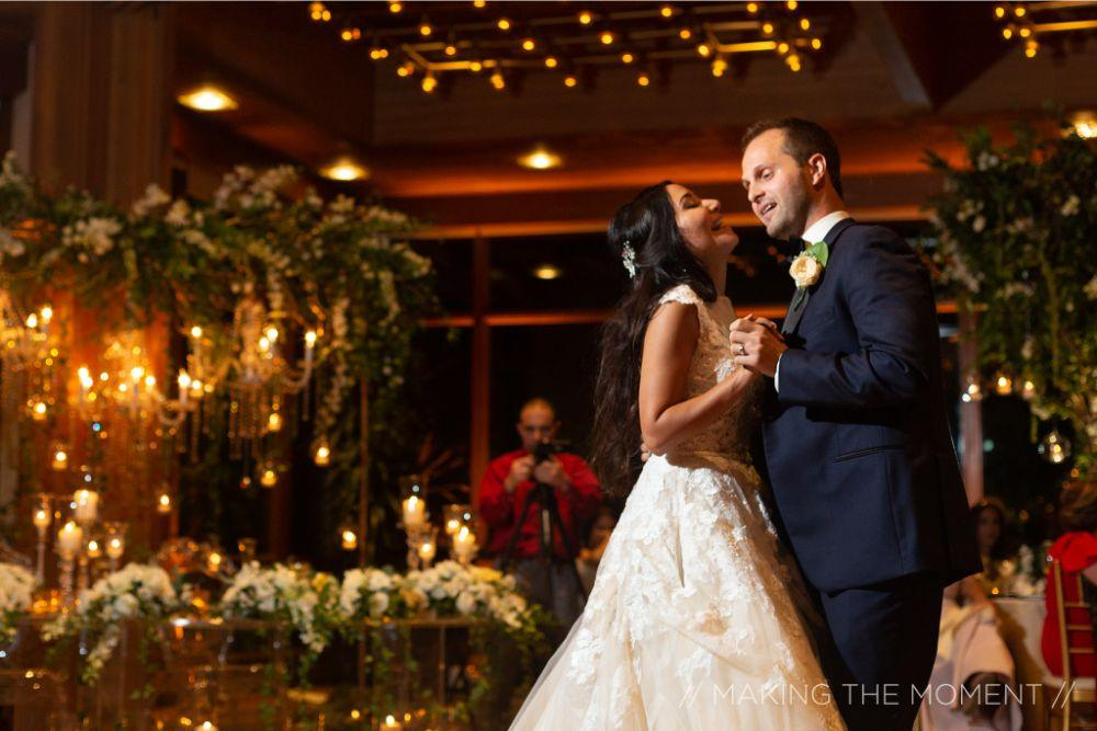 grace nicholas the hyatt lodge oak brook, IL bride groom first dance