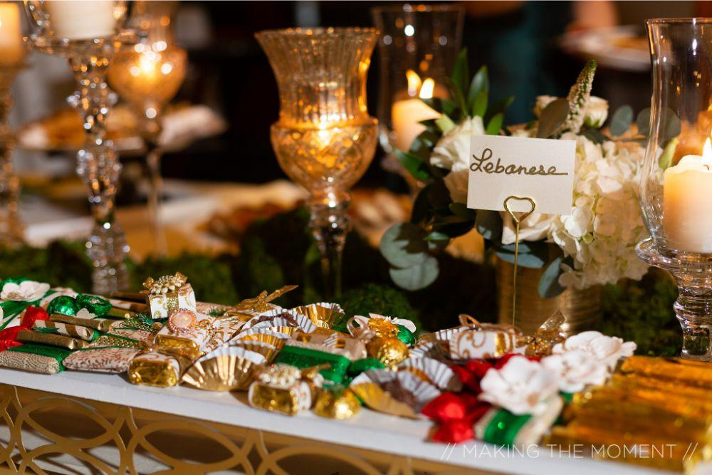 grace nicholas the hyatt lodge oak brook, IL wedding reception sweets