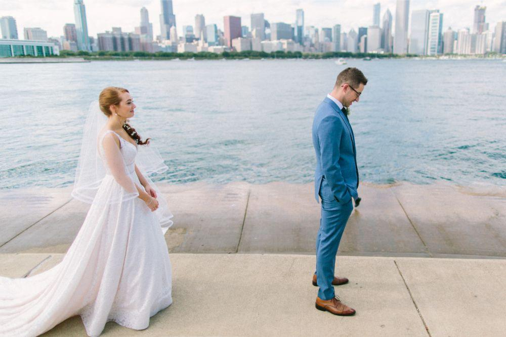 allie matthew the blackstone hotel chicago wedding first look