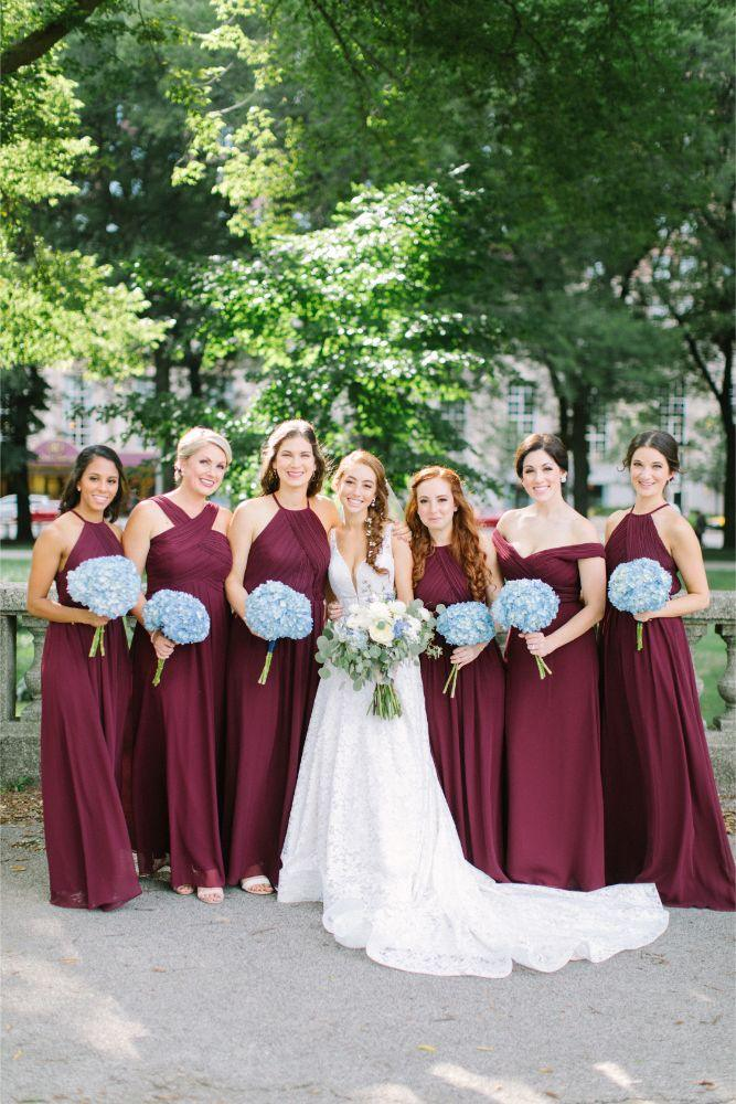 allie matthew the blackstone hotel chicago wedding bridesmaids