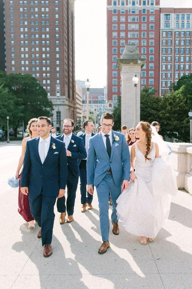 allie matthew the blackstone hotel chicago wedding bridal party
