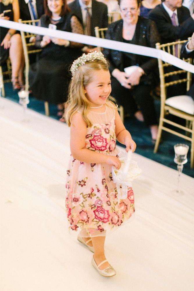 allie matthew the blackstone hotel chicago wedding flower girl