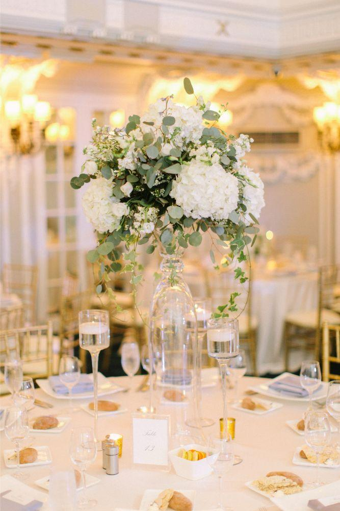 allie matthew the blackstone hotel chicago wedding reception centerpieces