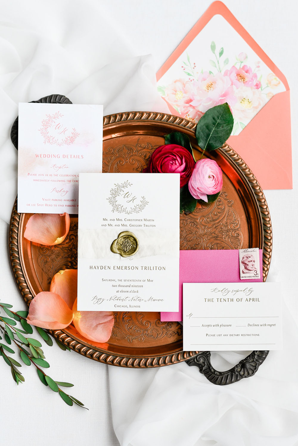 Glam & Girly Pink & Gold Wedding Inspiration - The