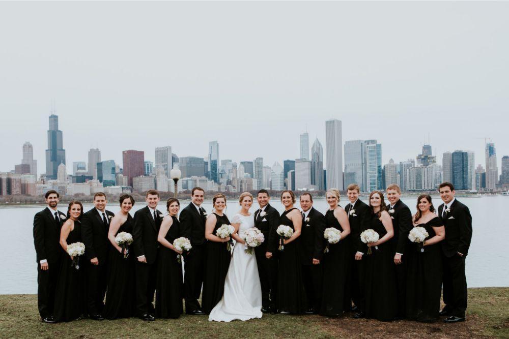 cassie ryan chicago wedding chicago marriott southwest at burr ridge wedding party