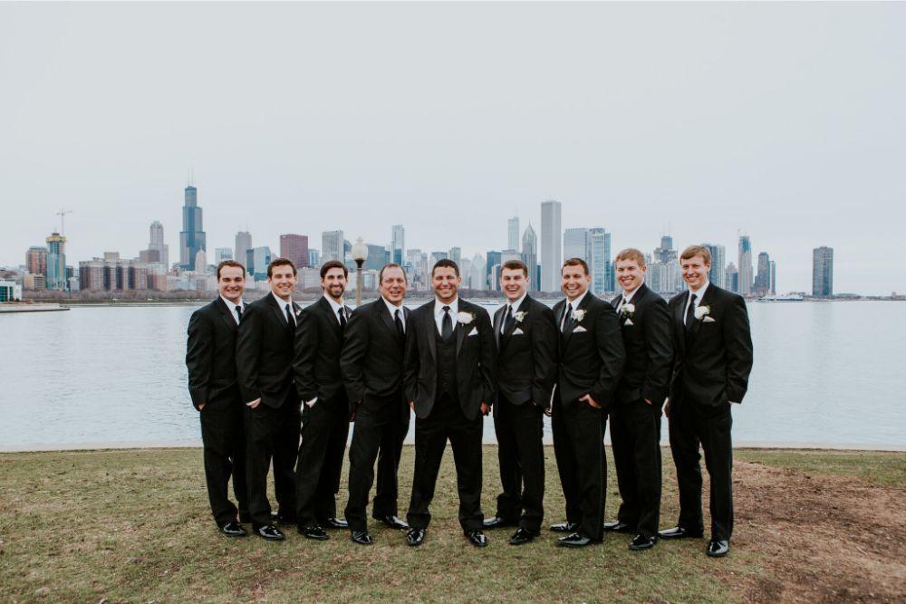 cassie ryan chicago wedding chicago marriott southwest at burr ridge groom and groomsmen