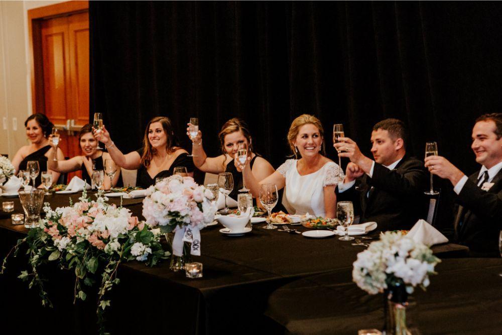 cassie ryan chicago wedding chicago marriott southwest at burr ridge toasts