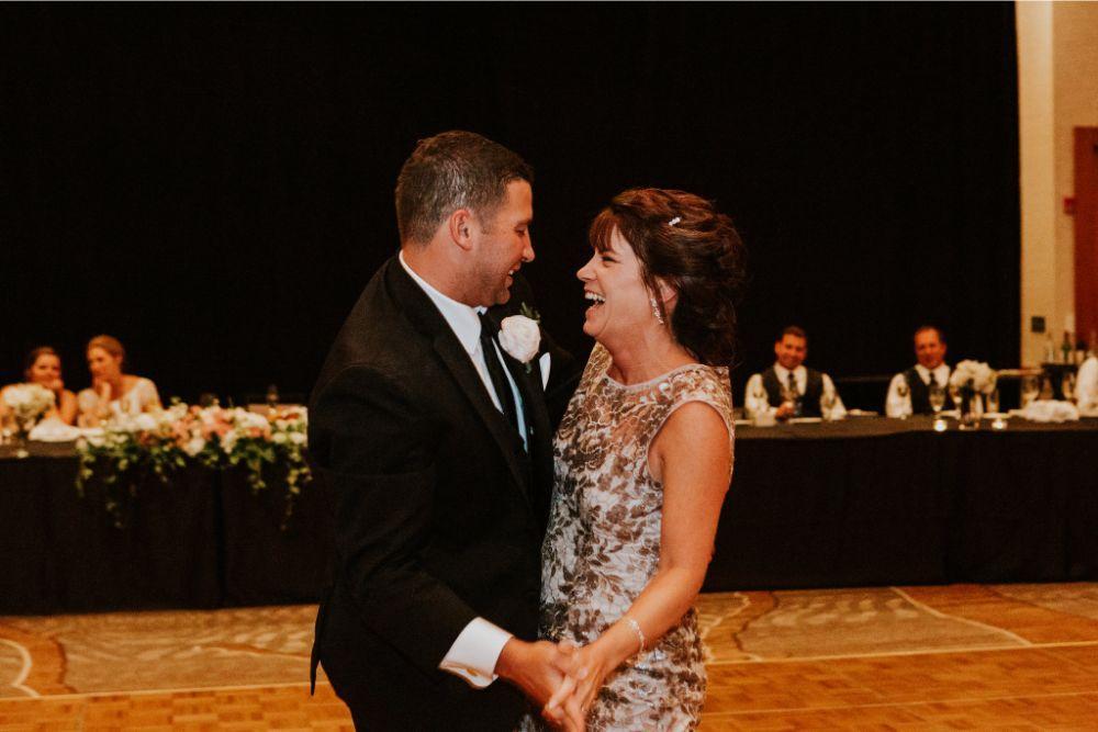 cassie ryan chicago wedding chicago marriott southwest at burr ridge mother son dance