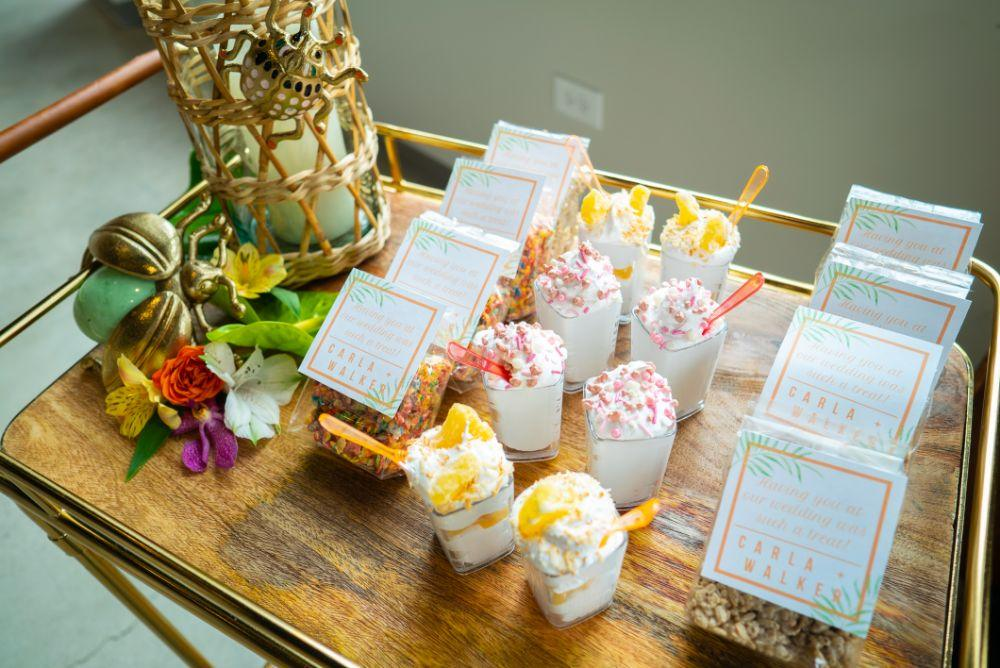 vibrant tropical paradise wedding inspiration at gallery 1500 desserts
