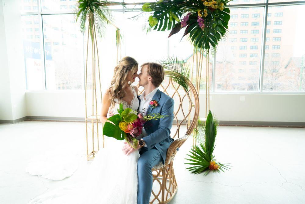 vibrant tropical paradise wedding inspiration at gallery 1500
