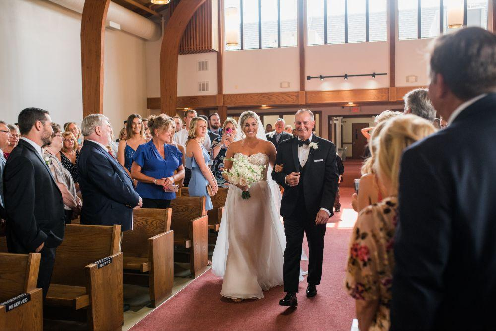 megan mike hotel indigo naperville rivewalk chicago wedding father walking bride down aisle