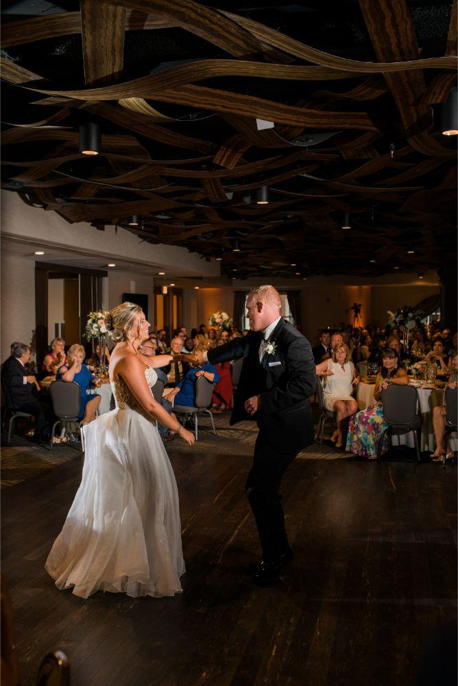 megan mike hotel indigo naperville riverwalk chicago wedding first dance