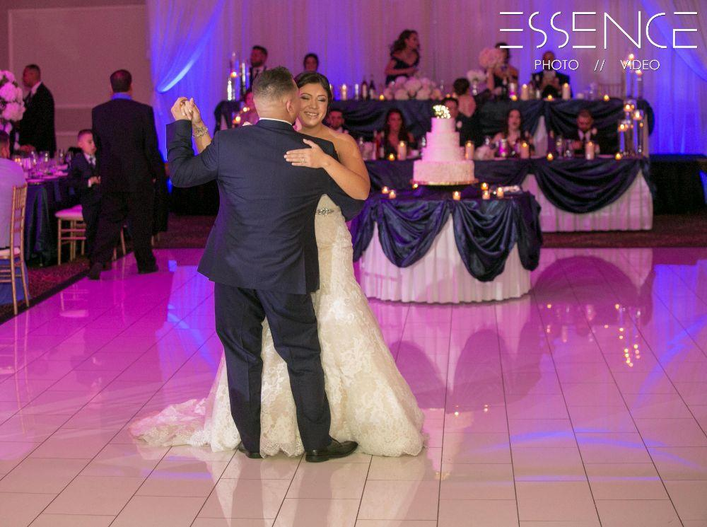vanesa leonardo cotillion banquets chicagoland wedding first dance