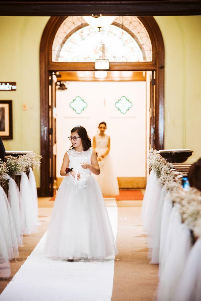 adrianna dean salvatore's chicago wedding flower girls