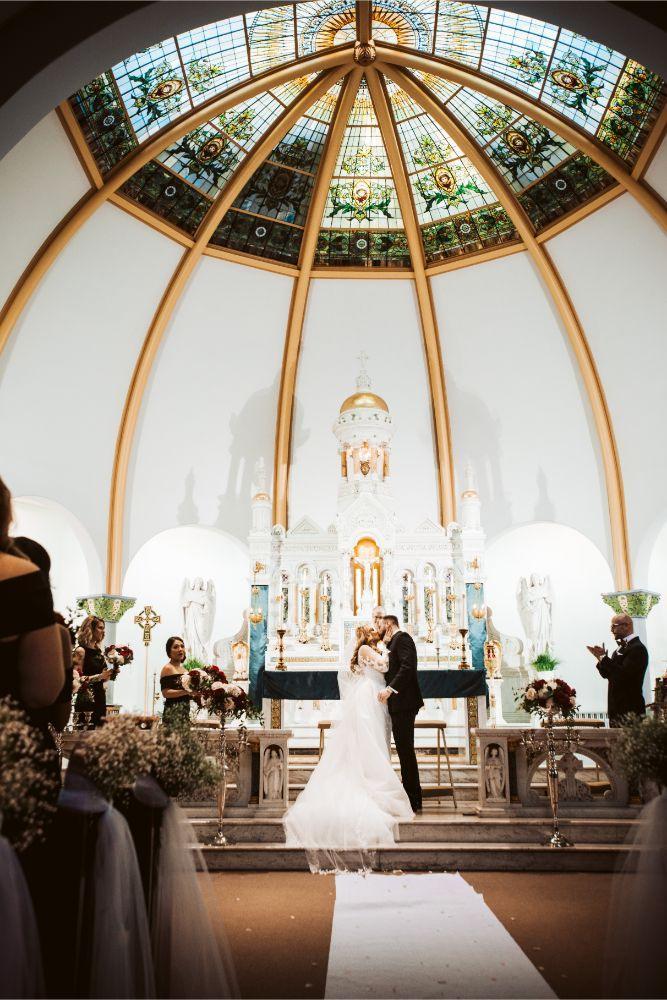 adrianna dean salvatore's chicago wedding first kiss