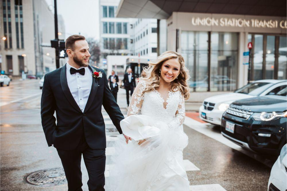 adrianna dean salvatore's chicago wedding bride and groom