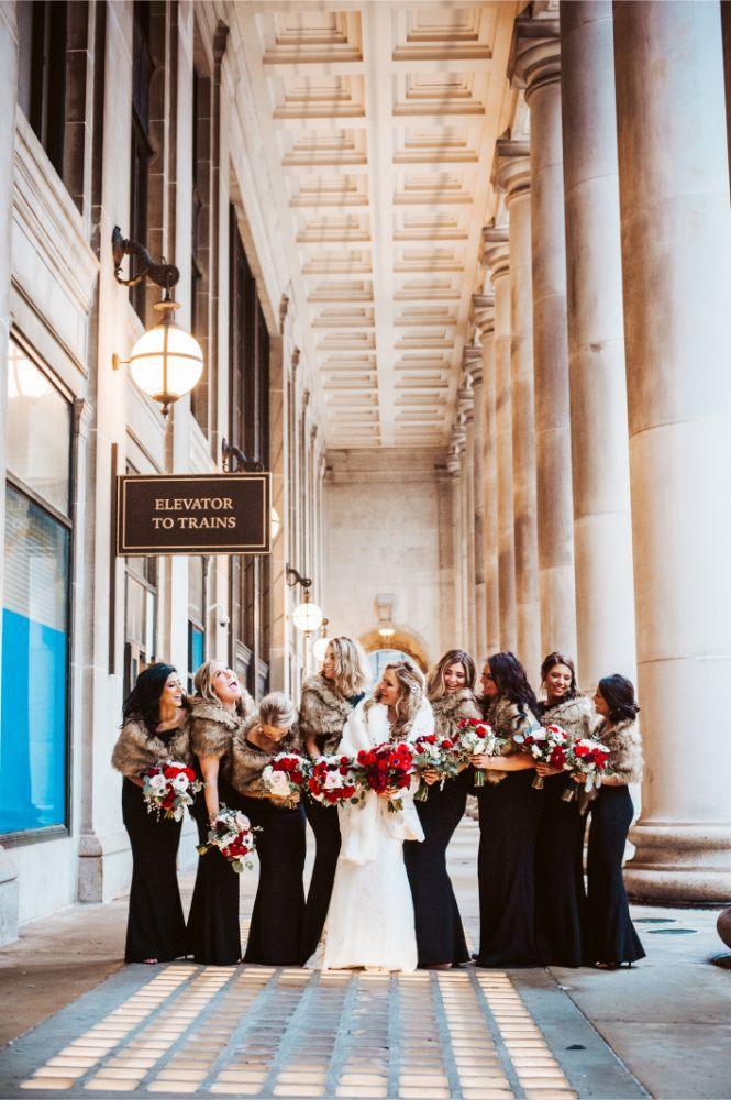 adrianna dean salvatore's chicago wedding bride and bridesmaids