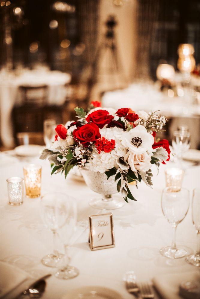 adrianna dean salvatore's chicago wedding reception tables
