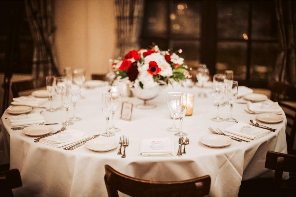 adrianna dean salvatore's chicago wedding reception table