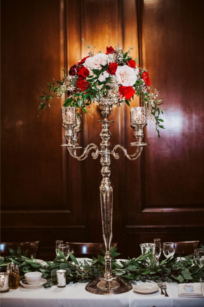 adrianna dean salvatore's chicago wedding reception floral centerpieces