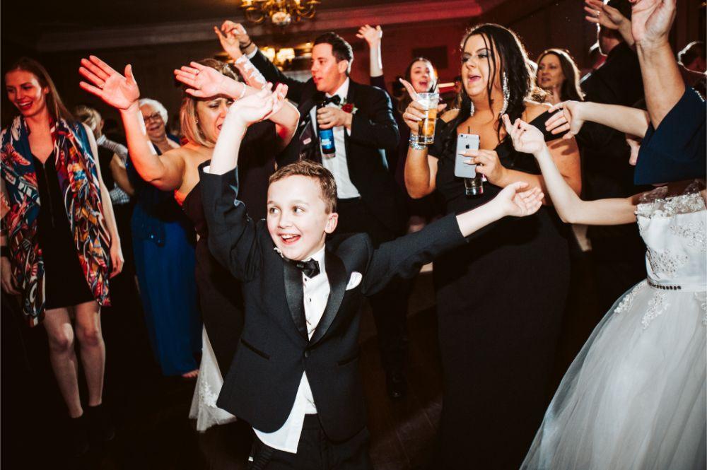 adrianna dean salvatore's chicago wedding dancing at reception