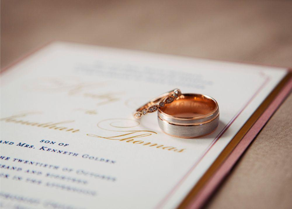 kolby j chicago wedding photography wedding rings and invitation