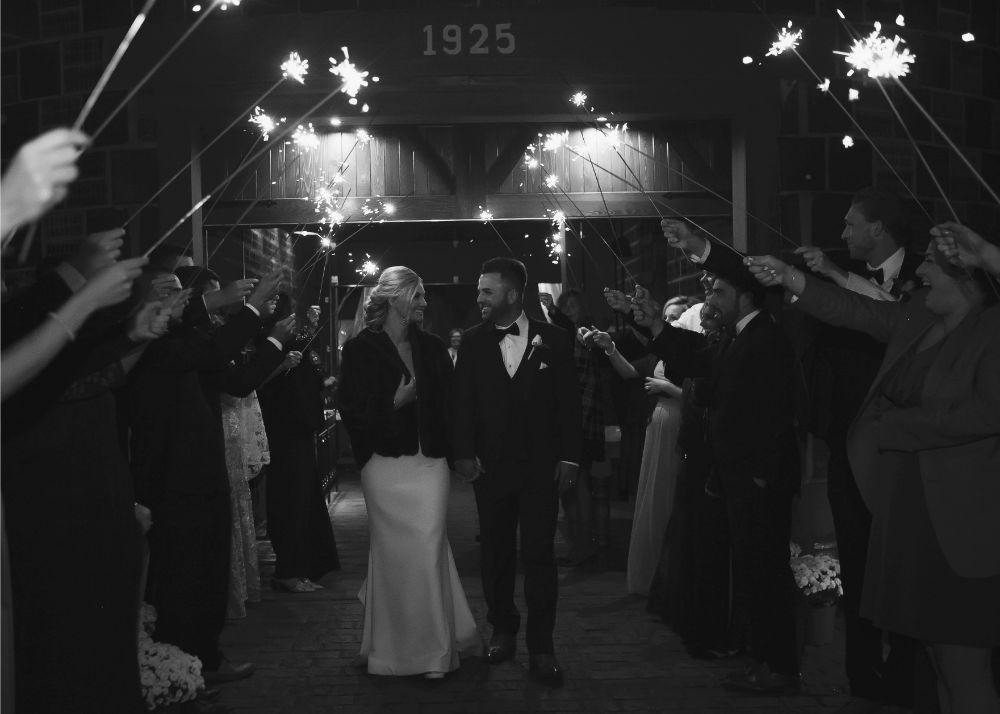 kolby j chicago wedding photography wedding reception exit