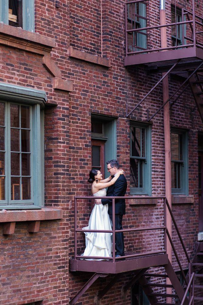 The Ivy Room at Tree Studios bride groom portait