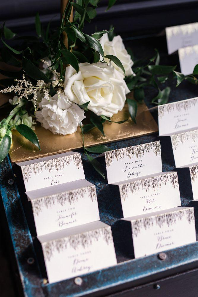 The Ivy Room at Tree Studios seating cards