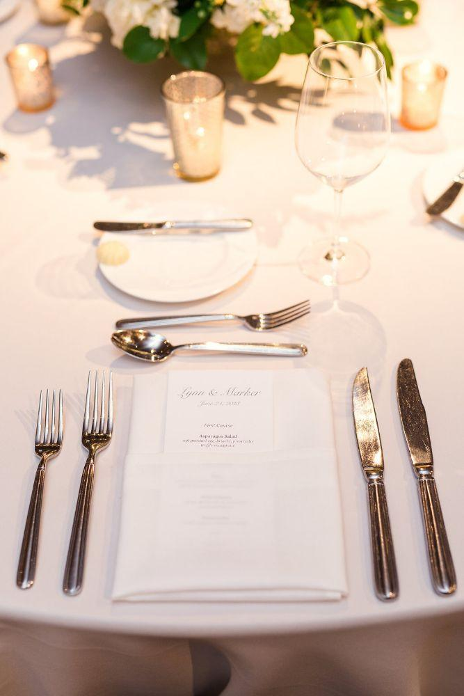 The Ivy Room at Tree Studios reception table setting