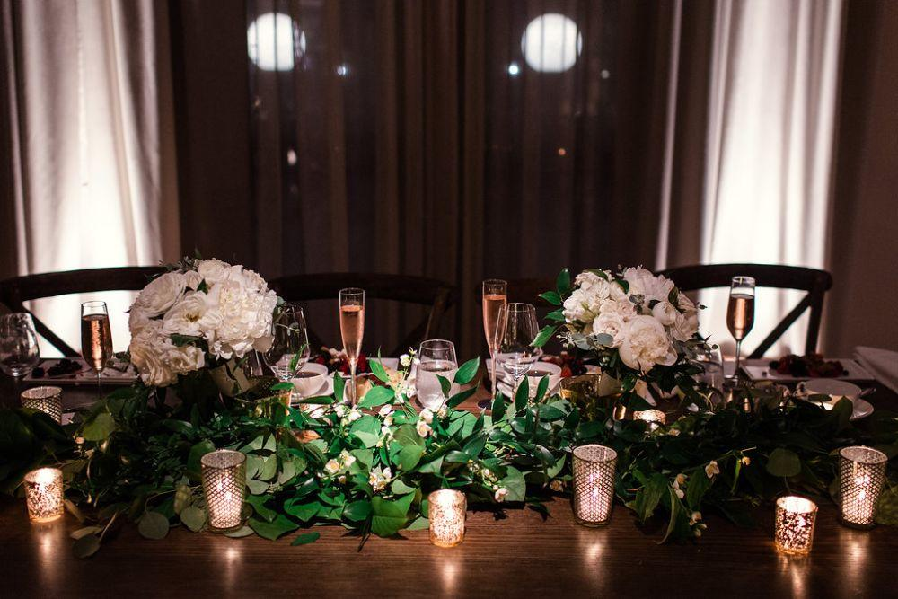 The Ivy Room at Tree Studios reception table