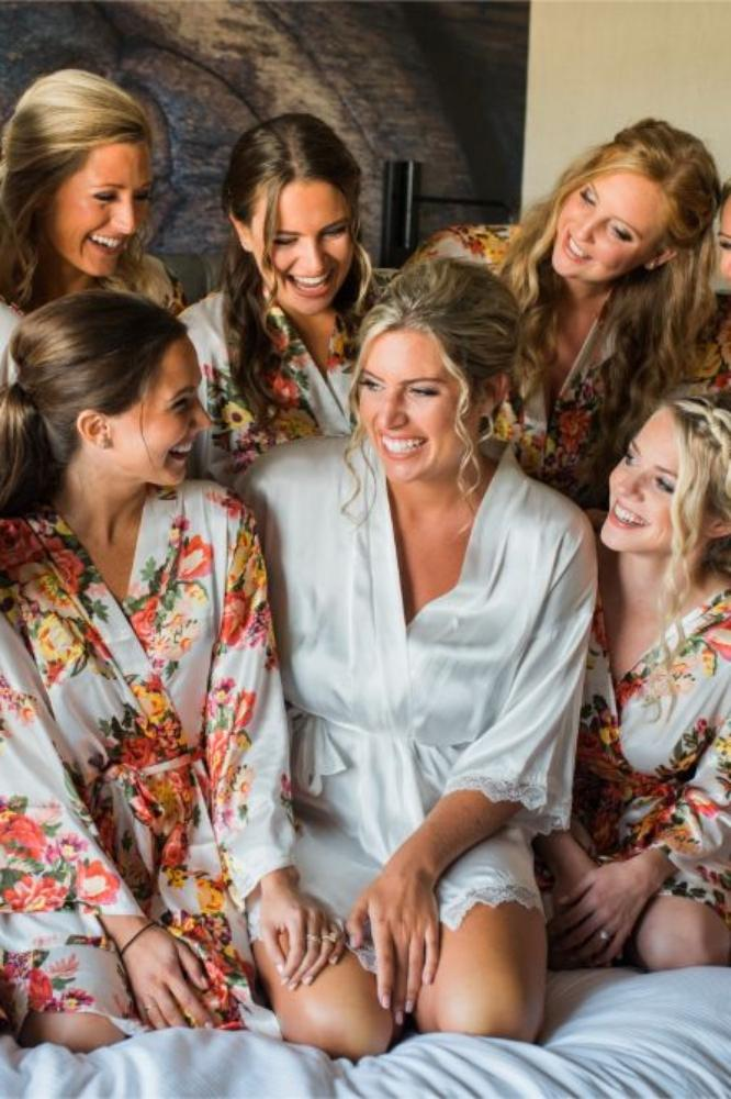 megan mike hotel indigo naperville rivewalk chicago wedding bride and bridesmaids in robes