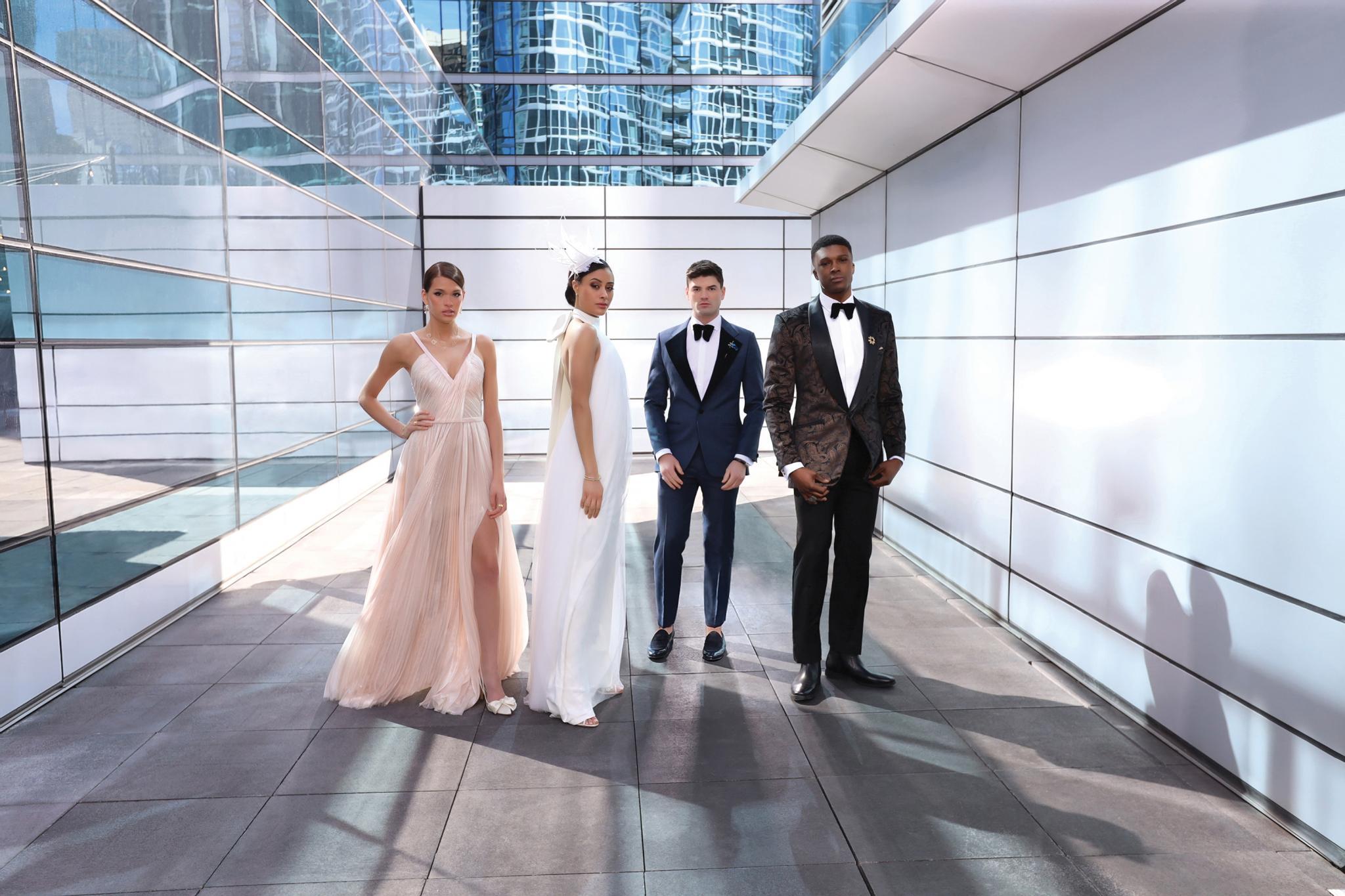 Haute in the City | Bridal Fashion Shoot | Bridal Fashion | Menswear | Wedding Party Attendants | Chicago Fashion Shoot