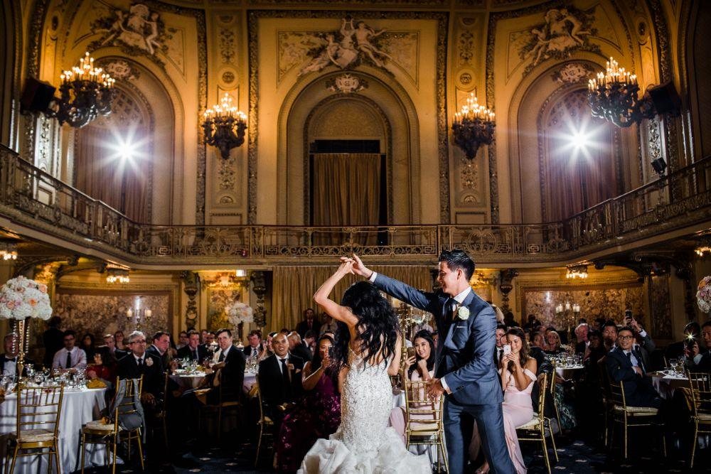 michelle jimmy the congress plaza hotel chicago wedding first dance