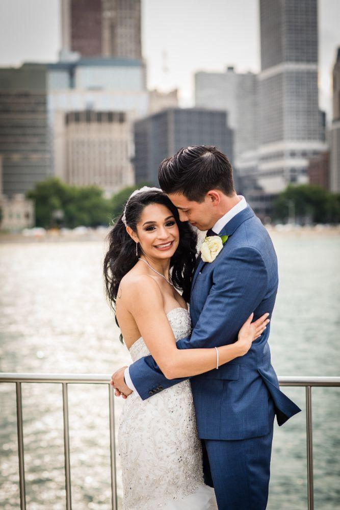 michelle jimmy the congress plaza hotel chicago wedding bride and groom