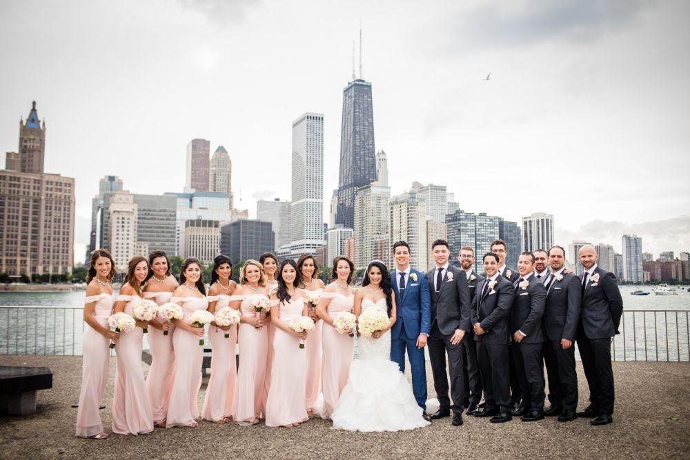michelle jimmy the congress plaza hotel chicago wedding party