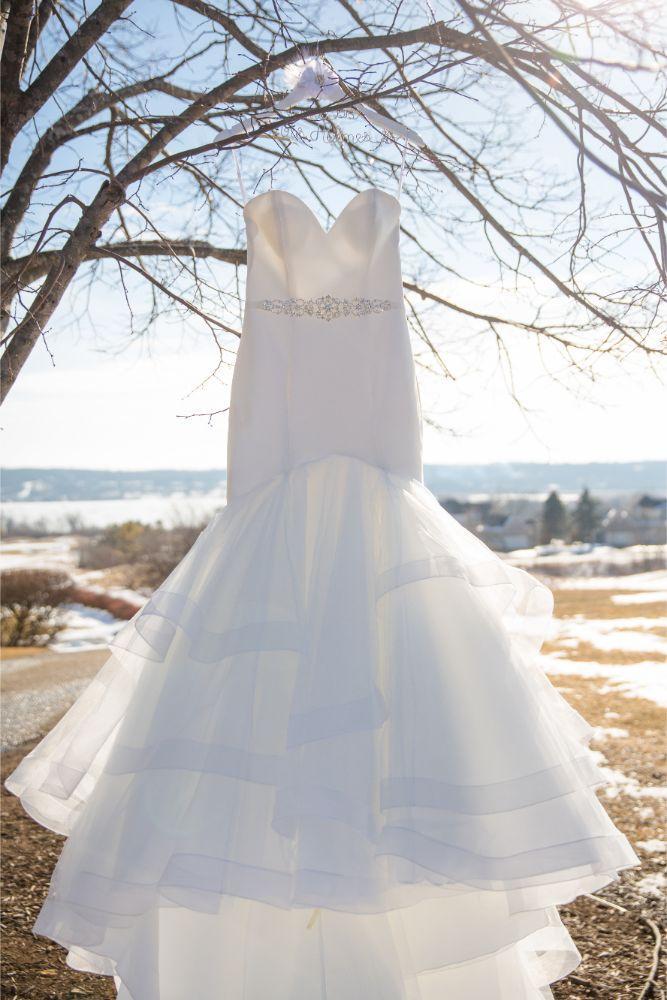 brittany matthew local love the ridge hotel chicago wedding dress