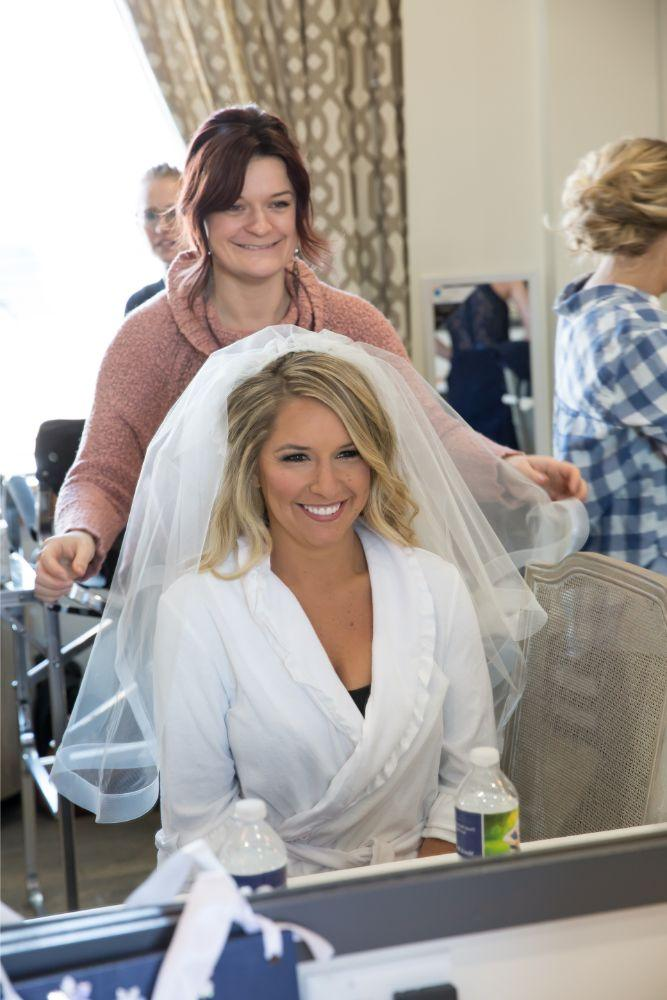 brittany matthew local love the ridge hotel chicago wedding bride getting ready