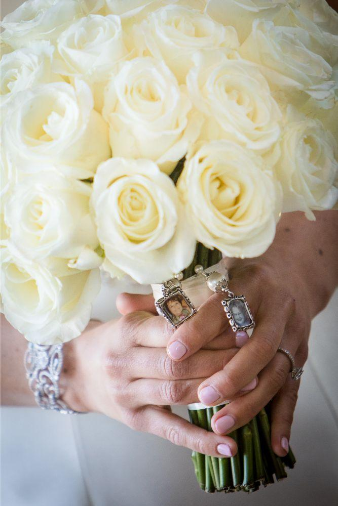 brittany matthew local love the ridge hotel chicago wedding white rose bouquet