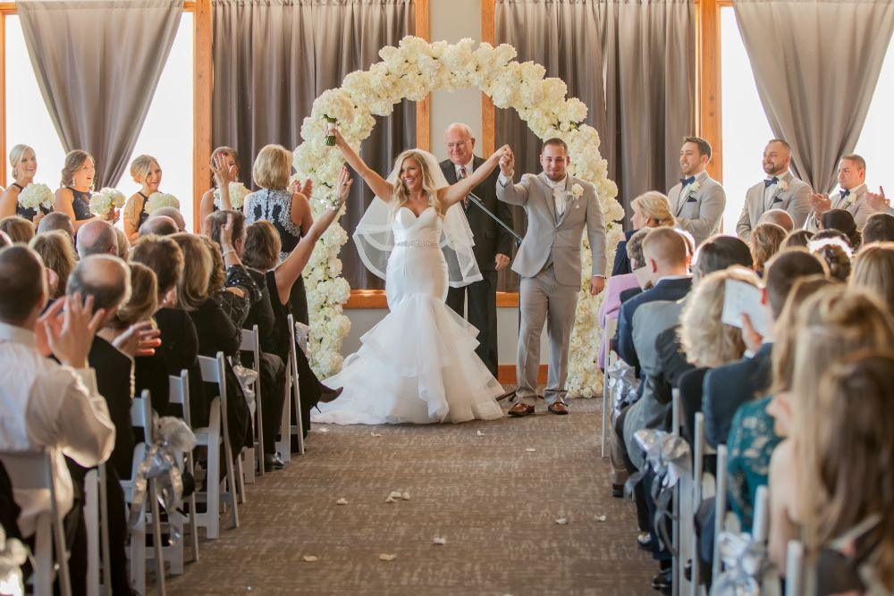 brittany matthew local love the ridge hotel chicago wedding bride and groom wedding ceremony