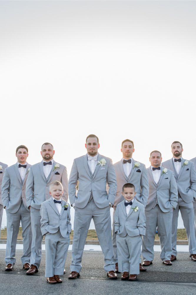 brittany matthew local love the ridge hotel chicago wedding groom and groomsmen