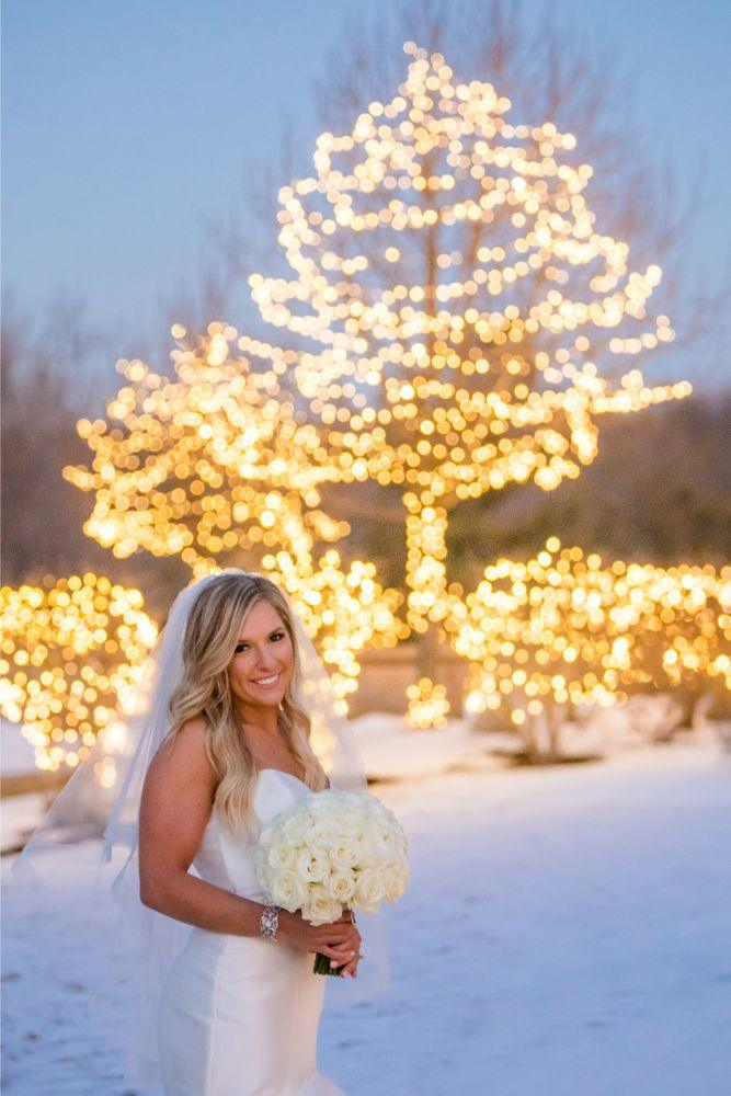brittany matthew local love the ridge hotel chicago wedding winter wedding photography twinkle lights