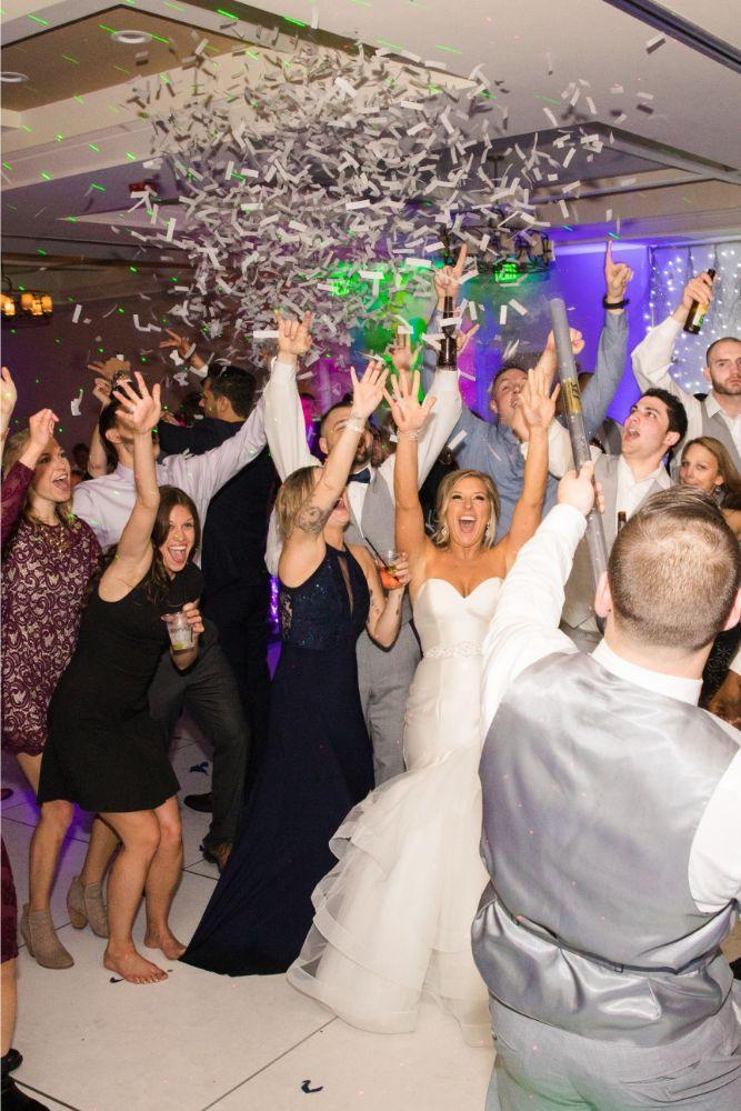 brittany matthew local love the ridge hotel chicago wedding confetti