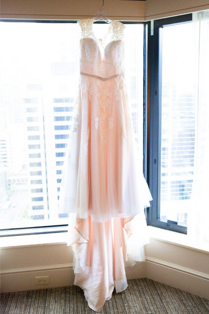 caitlin carolyn salvage one chicago wedding bride gown