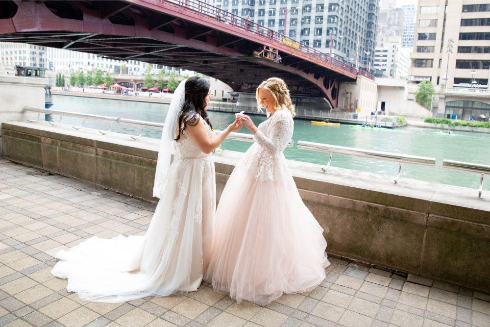caitlin carolyn salvage one chicago wedding first look