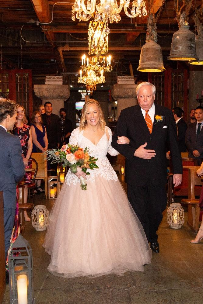 caitlin carolyn salvage one chicago wedding father walking daughter down aisle